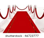 red carpet path on a brown... | Shutterstock . vector #46723777