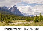 banff national park with chairs ... | Shutterstock . vector #467242280