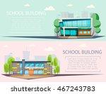 school building . cartoon and...   Shutterstock .eps vector #467243783
