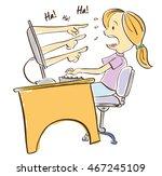 bullying  | Shutterstock .eps vector #467245109