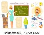 mathematics teacher....   Shutterstock .eps vector #467251229