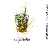 caipirinha cocktail on the... | Shutterstock .eps vector #467252660