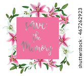 vector invitation template with ...   Shutterstock .eps vector #467262923