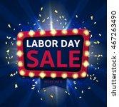 retro label for labor day sale. ... | Shutterstock .eps vector #467263490