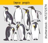 set of a emperor penguin.... | Shutterstock .eps vector #467272574