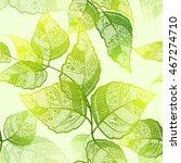 leaf seamless background.... | Shutterstock .eps vector #467274710