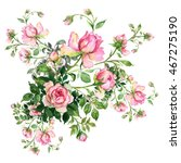 watercolor background with... | Shutterstock . vector #467275190