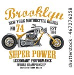 motorcycle t shirt graphic | Shutterstock .eps vector #467276258