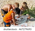 young boys reading a pirate... | Shutterstock . vector #467279693