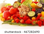 fresh fruits and vegetables | Shutterstock . vector #467282690