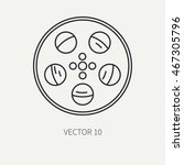line flat monochrome vector...   Shutterstock .eps vector #467305796