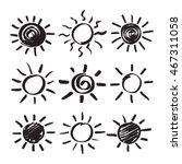 summer sun design elements. set ... | Shutterstock .eps vector #467311058