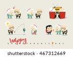 national grandparents day.... | Shutterstock .eps vector #467312669