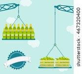 cranes carrying crate of fresh... | Shutterstock .eps vector #467320400