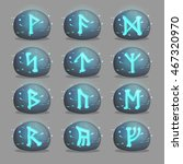 a collection of magical runic...