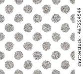 silver polka dots seamless...   Shutterstock .eps vector #467324549