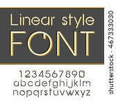 linear font   simple and... | Shutterstock . vector #467333030