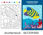 underwater world coloring page... | Shutterstock .eps vector #467339300