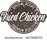 vintage fried chicken... | Shutterstock .eps vector #467348510