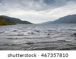 Stock photo loch ness lake cloudy highlands scotland 467357810
