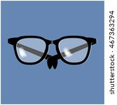 glasses vector icon symbol... | Shutterstock .eps vector #467363294