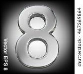 vector 3d metal number... | Shutterstock .eps vector #467369864
