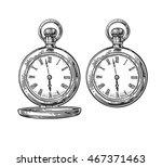 Antique Pocket Watch. Vector...