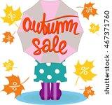 autumn sale. lettering.... | Shutterstock .eps vector #467371760