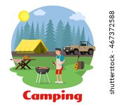 camping and outdoor recreation... | Shutterstock .eps vector #467372588