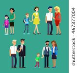 detailed character people... | Shutterstock .eps vector #467377004