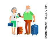character travelers. old age... | Shutterstock .eps vector #467377484