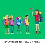 vector illustration of summer... | Shutterstock .eps vector #467377568