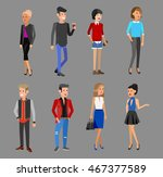 creative team people. teamwork  ... | Shutterstock .eps vector #467377589