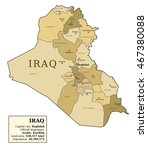 iraq map with provinces ... | Shutterstock .eps vector #467380088