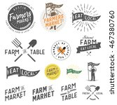 vintage farm and farmers market ... | Shutterstock .eps vector #467380760