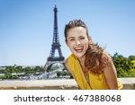 having fun time near the world...   Shutterstock . vector #467388068