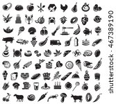 Collection Of Food Icons And...