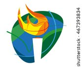 vector icon torch. rio 2016 | Shutterstock .eps vector #467393834