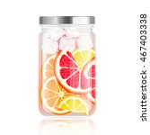 healthy detox water in jar with ... | Shutterstock .eps vector #467403338