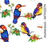 beautiful bright birds and... | Shutterstock . vector #467410274