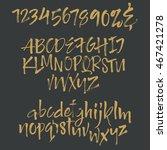 vector alphabet. letters drown...   Shutterstock .eps vector #467421278