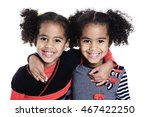 twin adorable african little... | Shutterstock . vector #467422250