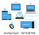 smart device and computer... | Shutterstock .eps vector #467428748