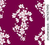 Seamless Pattern With Sakura....