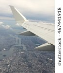 manhattan from a plane | Shutterstock . vector #467441918