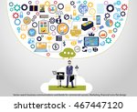 vector search business... | Shutterstock .eps vector #467447120