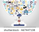 vector search business... | Shutterstock .eps vector #467447138