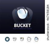 bucket color icon  vector...