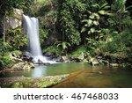 curtis falls  mount tamborine ... | Shutterstock . vector #467468033