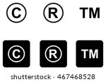 copyright trademark icons set  | Shutterstock .eps vector #467468528
